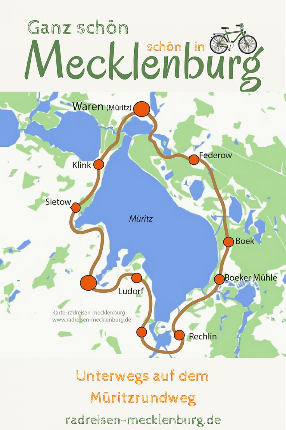 Mecklenburgische Seenplatte / Radreisen Mecklenburg